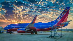 Southwest Airlines - The Winning Spirit Airplane Early One Morning